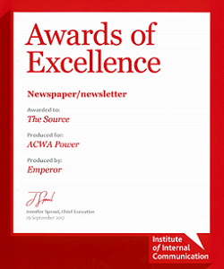 INTERNAL NEWSPAPER, EXCELLENCE AWARD