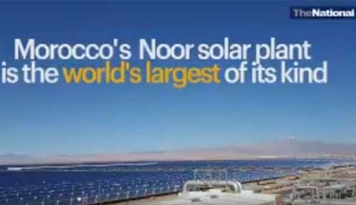 NOORo Solar Plant in Morocco-video