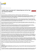 ACWA POWER AWARDED 2011 GLOBAL SPONSOR OF THE YEAR